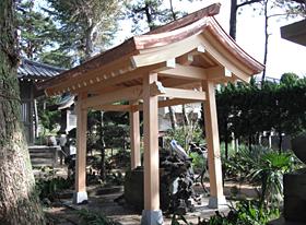 茂呂神社手水舎(千葉県船橋市)