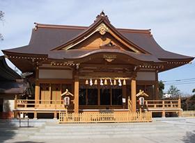 道野辺八幡神社外拝殿(千葉県鎌ヶ谷市)1