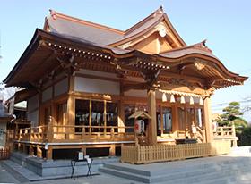 道野辺八幡神社外拝殿(千葉県鎌ヶ谷市)2