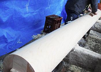 丸柱の加工
