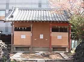 津田沼八坂神社 御社殿の新築工事前